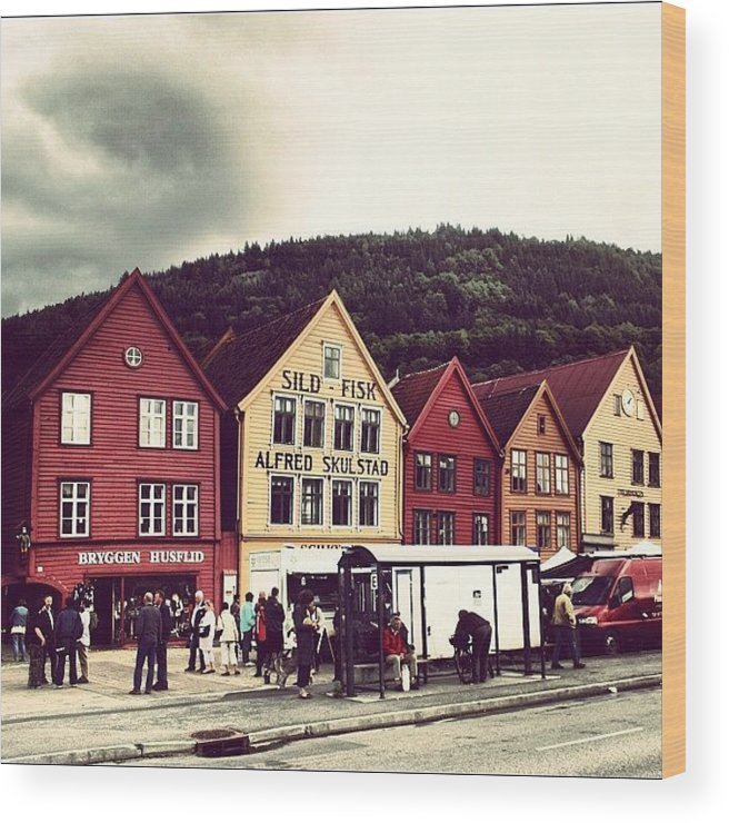 Beautiful Wood Print featuring the photograph Bergen by Luisa Azzolini