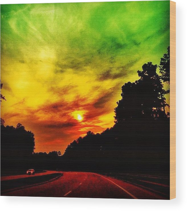 Instaclouds Wood Print featuring the photograph Sunset by Katie Williams