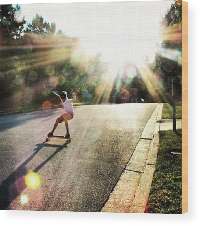 Amazing Wood Print featuring the photograph Absolutely Amazing Picture By by Sweden Longboards