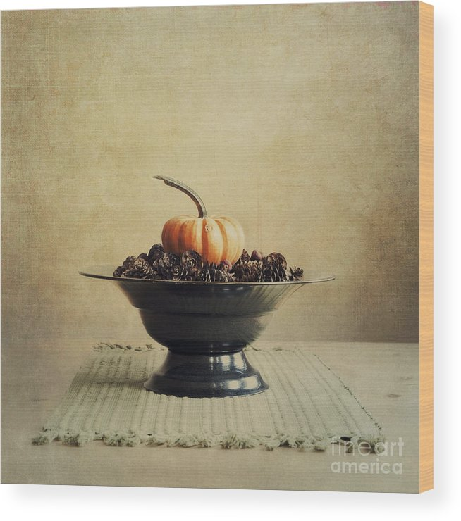 Bowl Wood Print featuring the photograph Autumn by Priska Wettstein