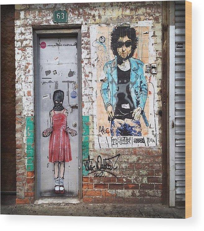 Summer Wood Print featuring the photograph Graffiti Artist by Randy Lemoine