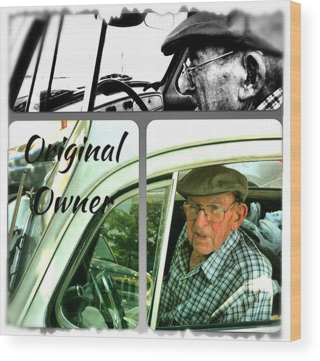 Volkswagen Wood Print featuring the photograph Grocery Shopping Day ... 99 Years by Gwyn Newcombe