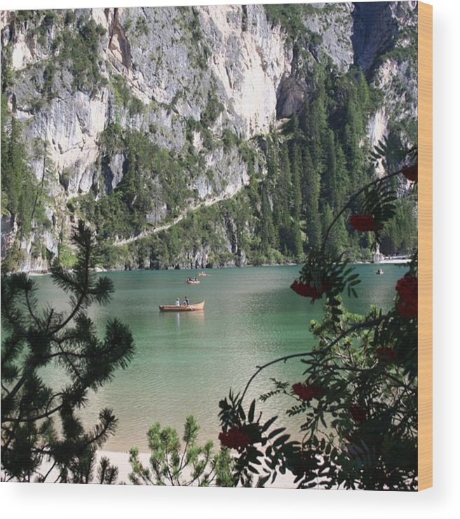 Dolomites Wood Print featuring the photograph Lake of Braies by Luisa Azzolini