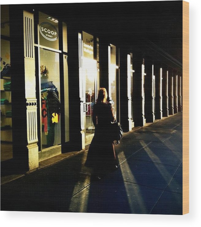 Shadows Wood Print featuring the photograph Lonely Winter Afternoon On Chelsea by Joel Lopez