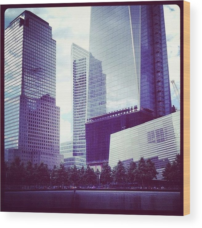 Europe Wood Print featuring the photograph Memorial And Trade Centers by Randy Lemoine