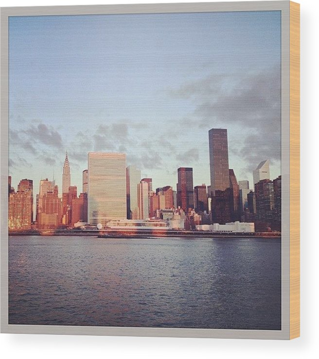 Europe Wood Print featuring the photograph Nyc Sunrise by Randy Lemoine