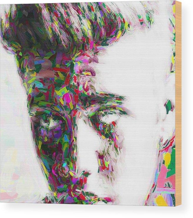 Star Wood Print featuring the photograph #justinbieber @justinbieber by David Haskett II