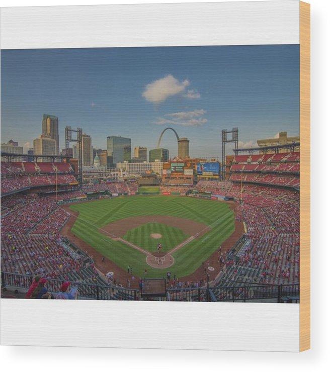 Prints Wood Print featuring the photograph #stlouiscardinals #cardinals by David Haskett II