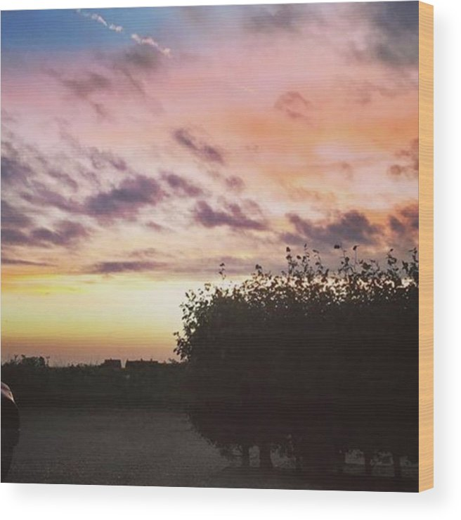 Norfolklife Wood Print featuring the photograph A Beautiful Morning Sky At 06:30 This by John Edwards