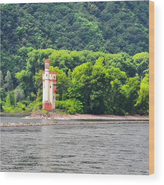 Medieval Building Wood Print featuring the photograph A Medieval Castle on the Rhine by Kirsten Giving