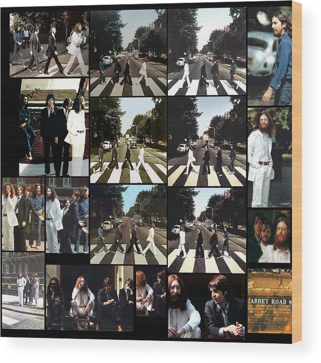 The Beatles. Abbey Road Wood Print featuring the photograph Abbey Road Photo Shoot by Paul Van Scott