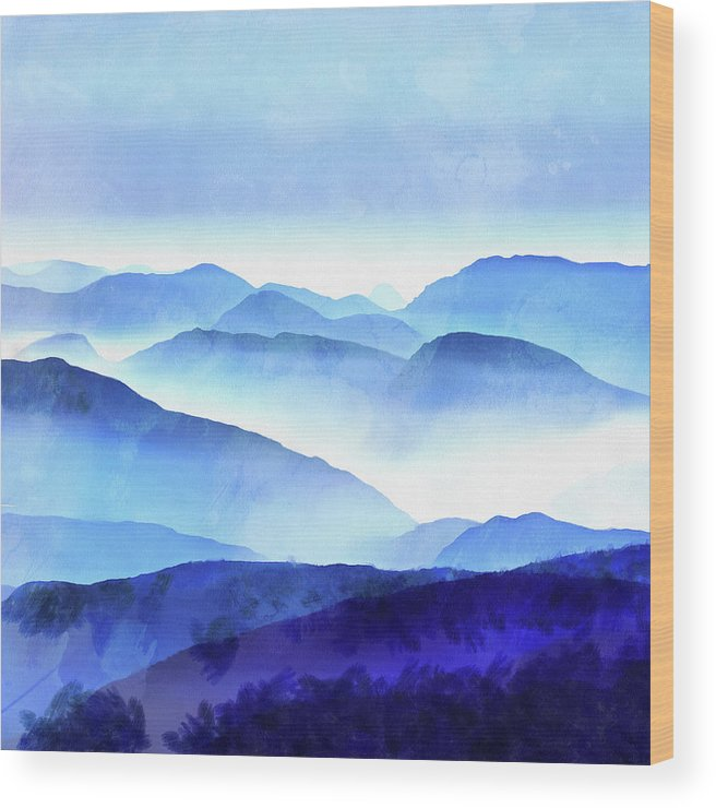 Painting Wood Print featuring the photograph Blue Ridge Mountains by Edward Fielding