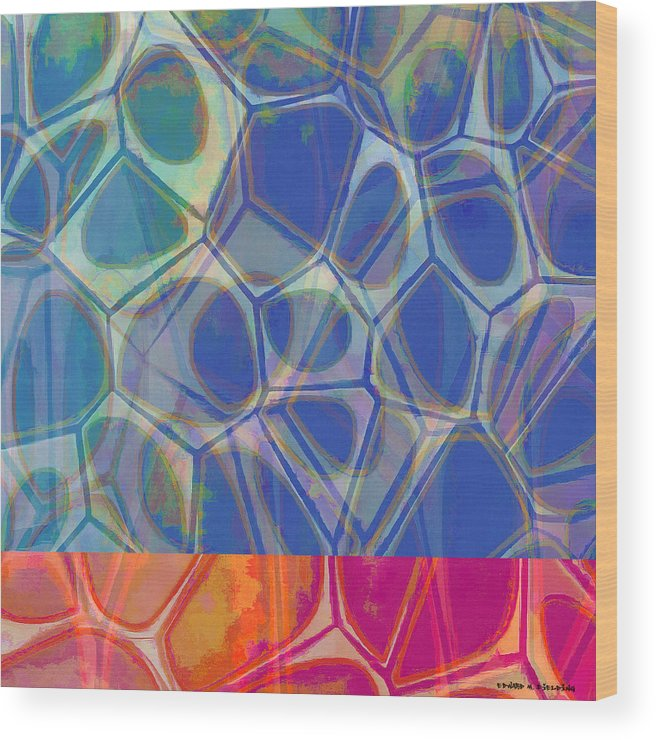 Painting Wood Print featuring the painting Cell Abstract One by Edward Fielding