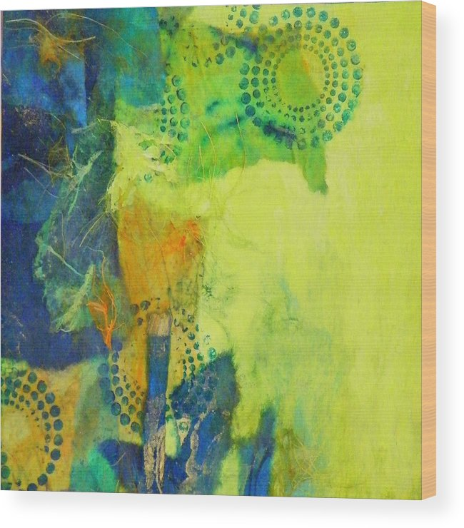 Mixed Media Wood Print featuring the painting Circles 2 by Tara Milliken