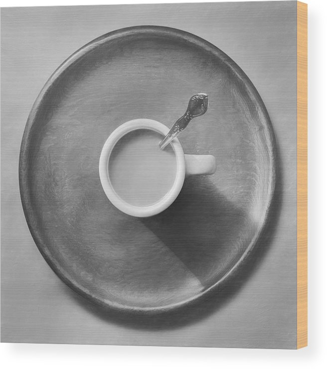 Scott Norris Photography Wood Print featuring the photograph Coffee On A Wooden Tray by Scott Norris