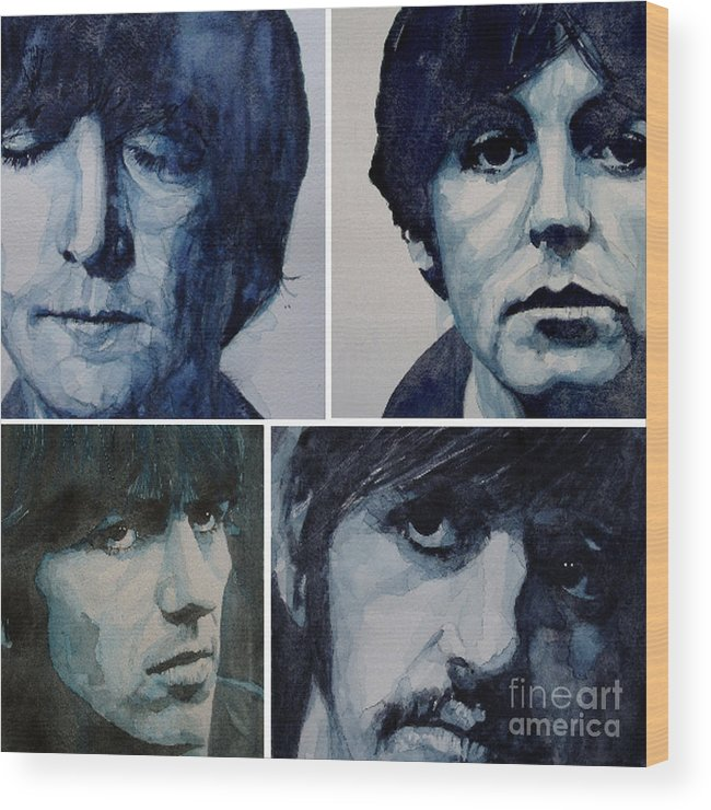 The Beatles Wood Print featuring the painting Come Together by Paul Lovering