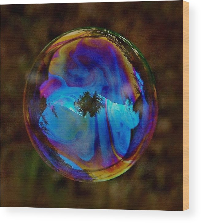 Bubble Wood Print featuring the photograph Crystal Bubble by Marilynne Bull