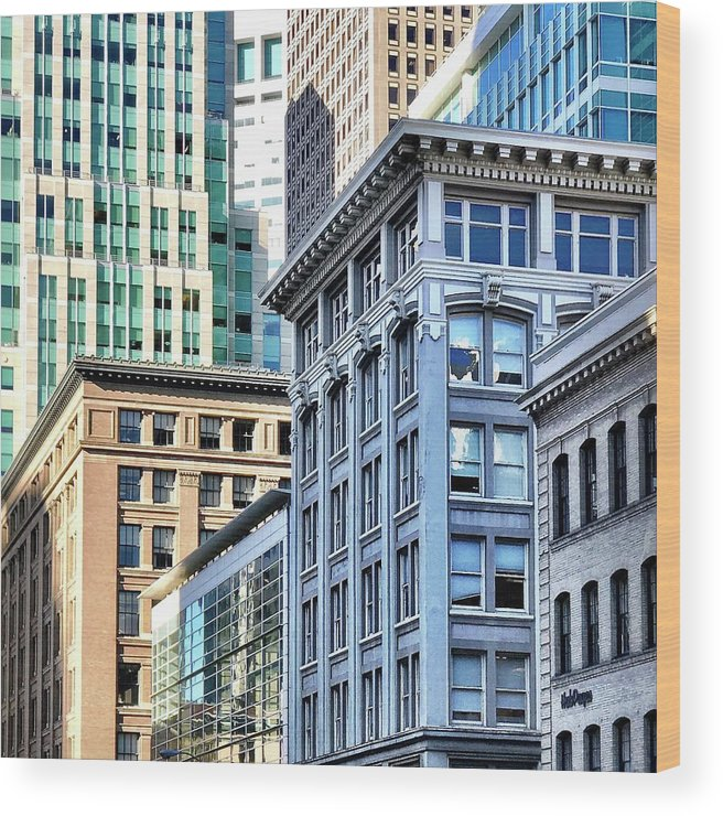 Wood Print featuring the photograph Downtown San Francisco by Julie Gebhardt