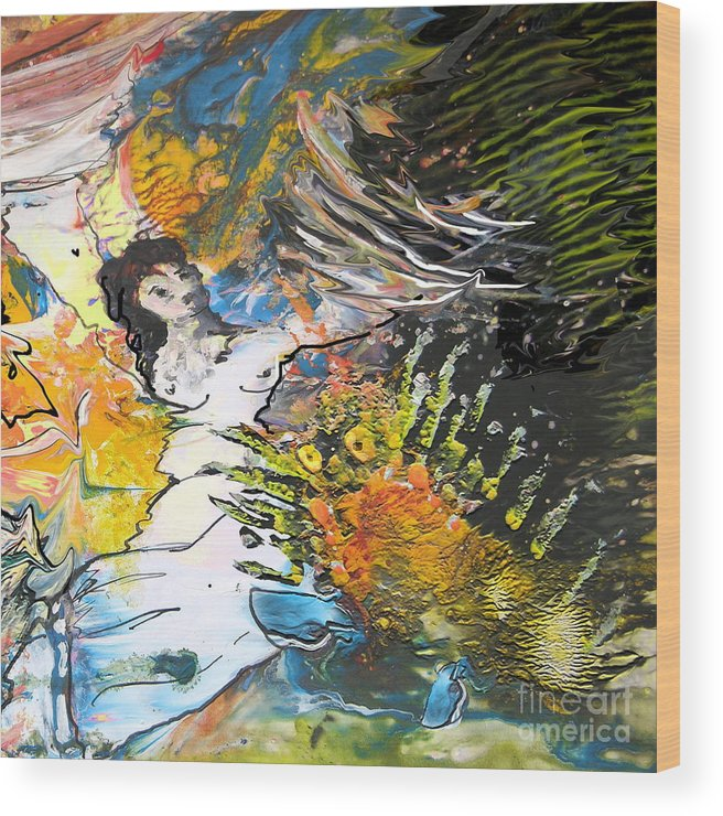 Miki Wood Print featuring the painting Erotype 07 2 by Miki De Goodaboom