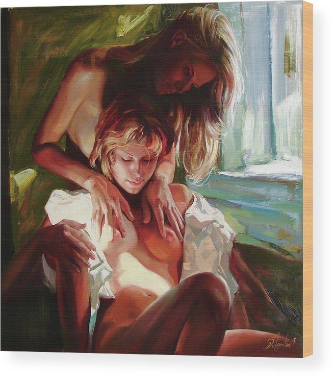 Ignatenko Wood Print featuring the painting Female secrets by Sergey Ignatenko
