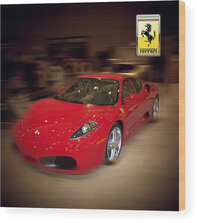 �auto Corner� Collection By Serge Averbukh Wood Print featuring the photograph Ferrari F430 - The Red Beast by Serge Averbukh