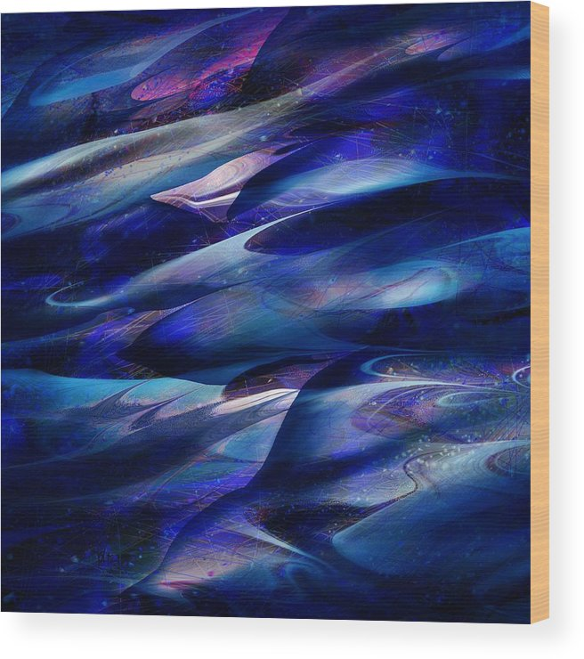 Abstract Wood Print featuring the digital art Flight by William Russell Nowicki