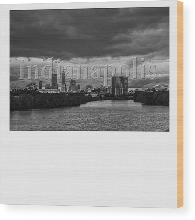 Instaiupui Wood Print featuring the photograph @goodmorningindy @keepindyindie by David Haskett II