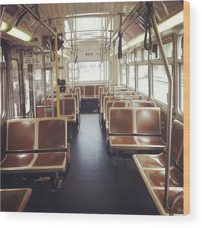 Commute Wood Print featuring the photograph Last Stop by Courtney Haile