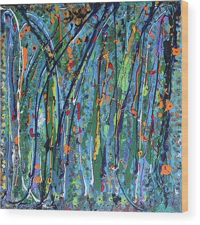 Bright Wood Print featuring the painting Mid-Summer Night's Dream by Pam Roth O'Mara