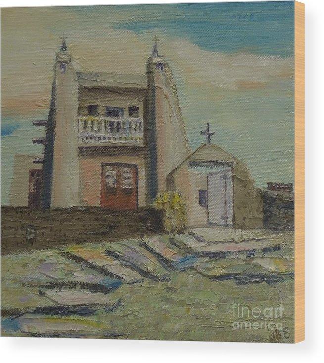 Gray Wood Print featuring the painting San Jose de Gracia - SOLD by Judith Espinoza
