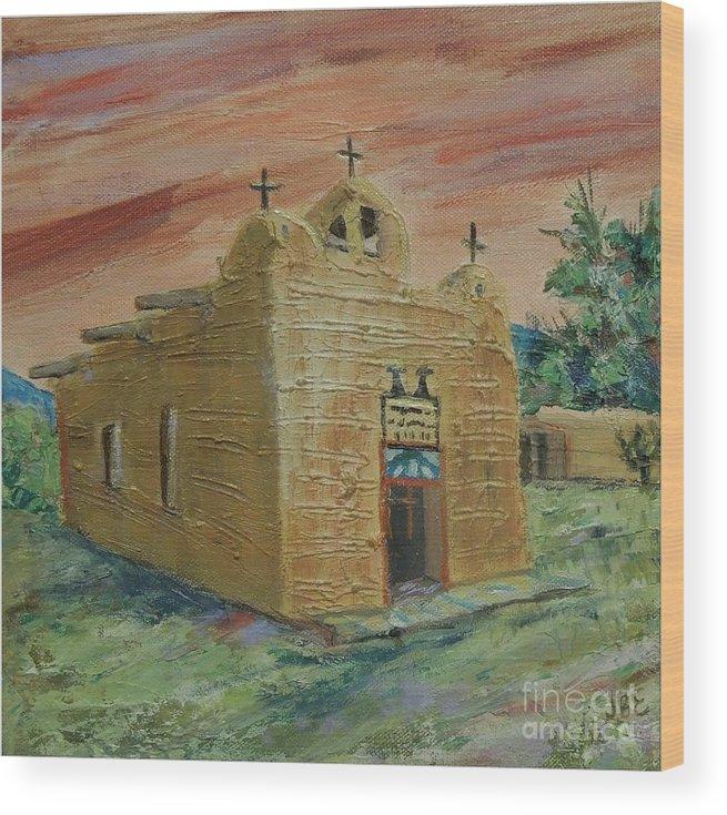 Church Wood Print featuring the painting San Juan de los Lagos - SOLD by Judith Espinoza