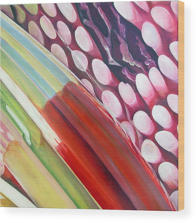 Abstract Wood Print featuring the painting Sens 2 by Muriel Dolemieux