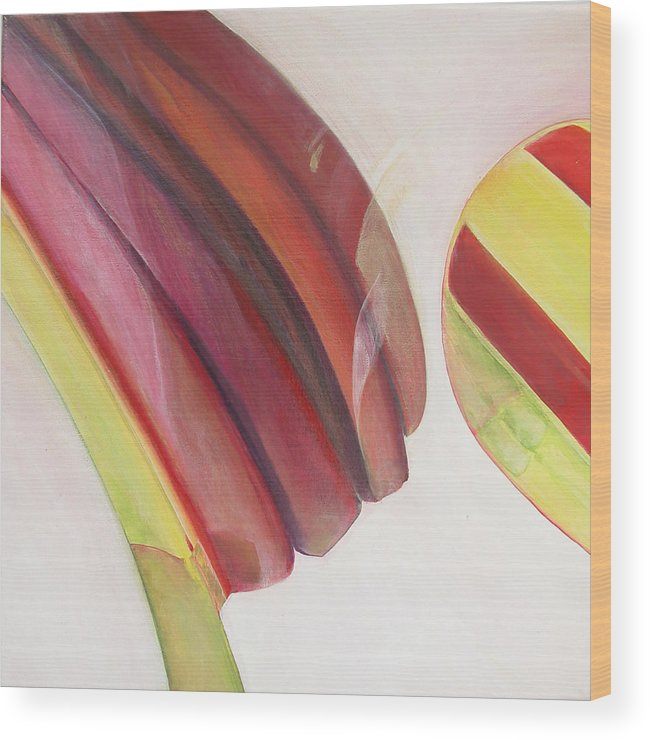 Abstract Wood Print featuring the painting Sens 3 by Muriel Dolemieux