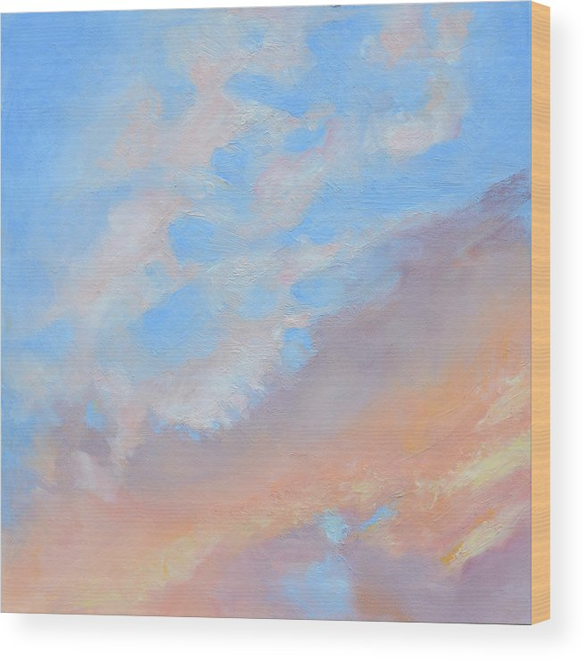 Oil Wood Print featuring the painting Poet's Sky by Mary Chant