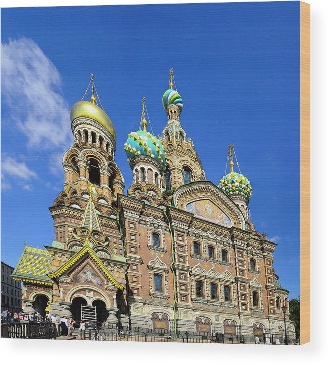 Cruise 2013 Wood Print featuring the photograph St. Petersburg Church of the Spilt Blood by Richard Henne