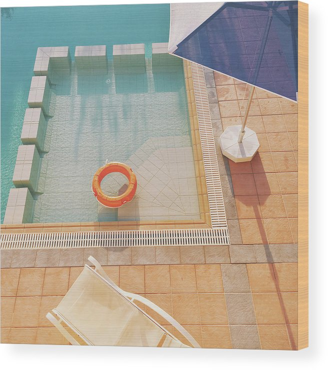 Water Wood Print featuring the photograph Swimming Pool by Cassia Beck