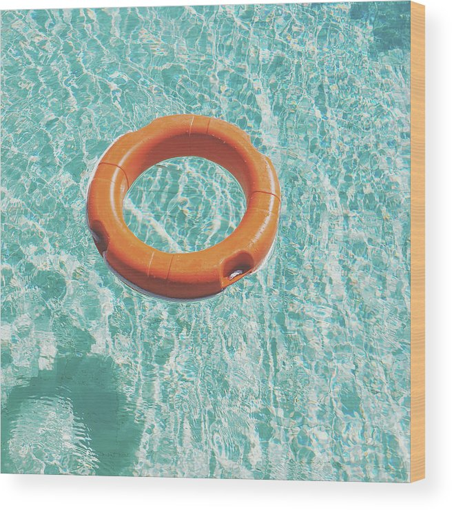 Water Wood Print featuring the photograph Swimming Pool III by Cassia Beck
