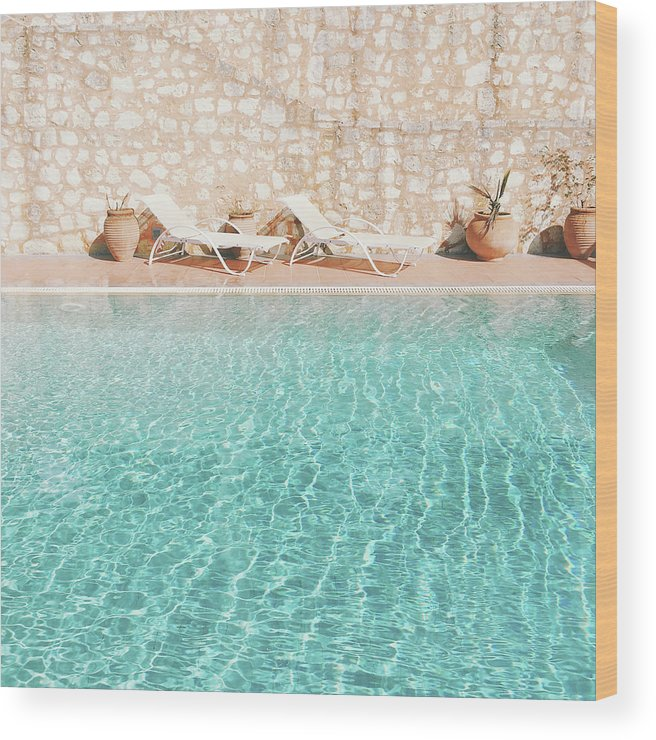 Water Wood Print featuring the photograph Swimming Pool V by Cassia Beck