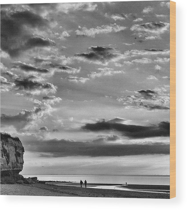 Natureonly Wood Print featuring the photograph The End Of The Day, Old Hunstanton by John Edwards