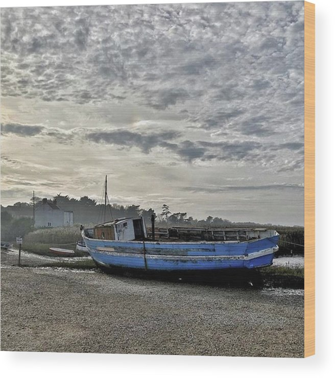 Beautiful Wood Print featuring the photograph The Fixer-upper, Brancaster Staithe by John Edwards
