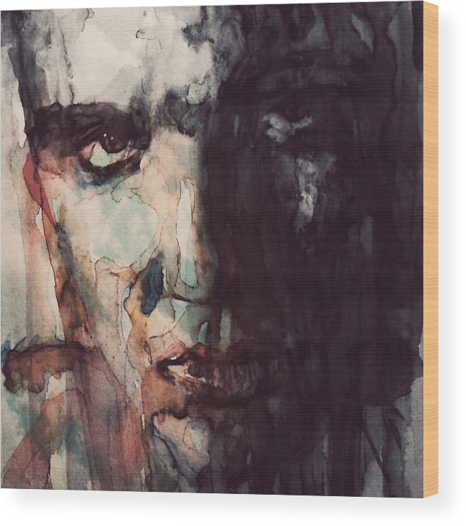 Elvis Wood Print featuring the painting The King by Paul Lovering