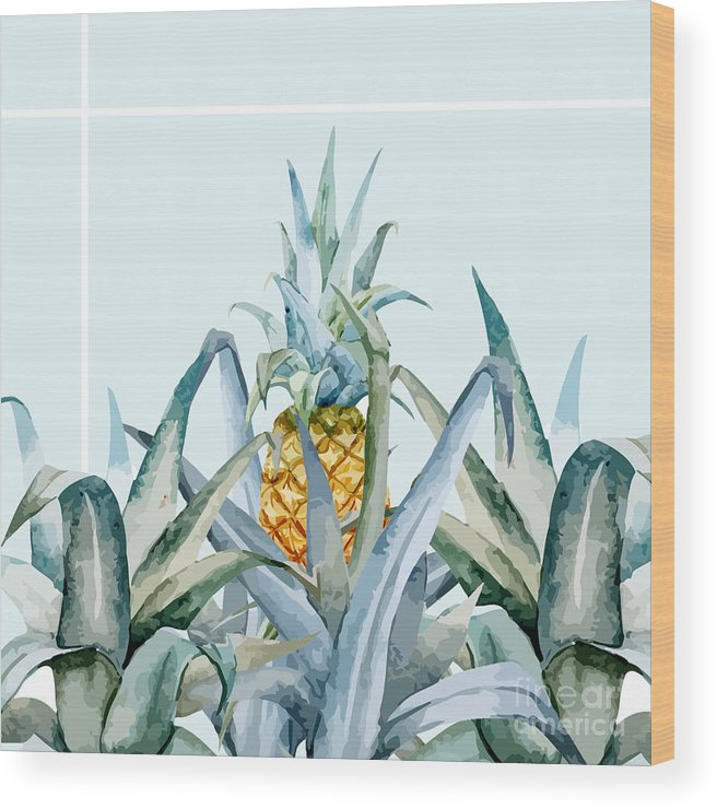 Summer Wood Print featuring the painting Tropical Feeling by Mark Ashkenazi