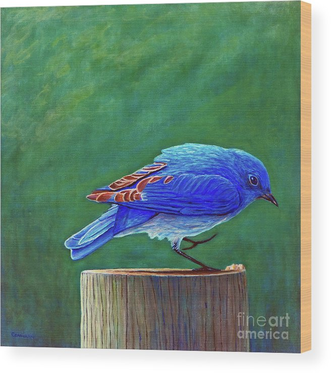Bluebird Wood Print featuring the painting Two Step by Brian Commerford