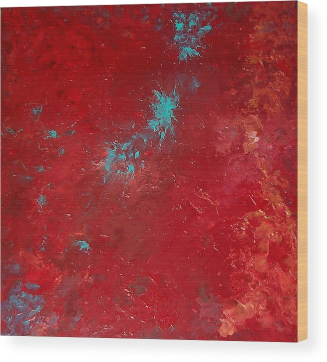 Red Wood Print featuring the painting Veronica by Jess Thorsen