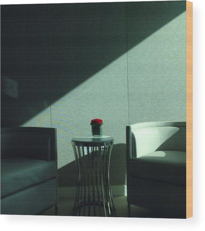 Miami Wood Print featuring the photograph Waiting Room, Greenberg-traurig by Juan Silva