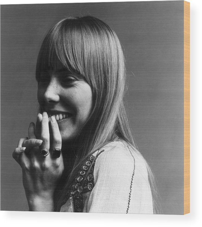 People Wood Print featuring the photograph Joni Mitchell by Jack Robinson