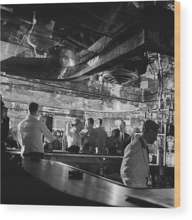 Latin Quarter Wood Print featuring the photograph Latin Quarter Bar by Graphic House