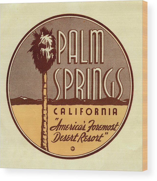The Media Wood Print featuring the photograph Palm Springs by Jim Heimann Collection