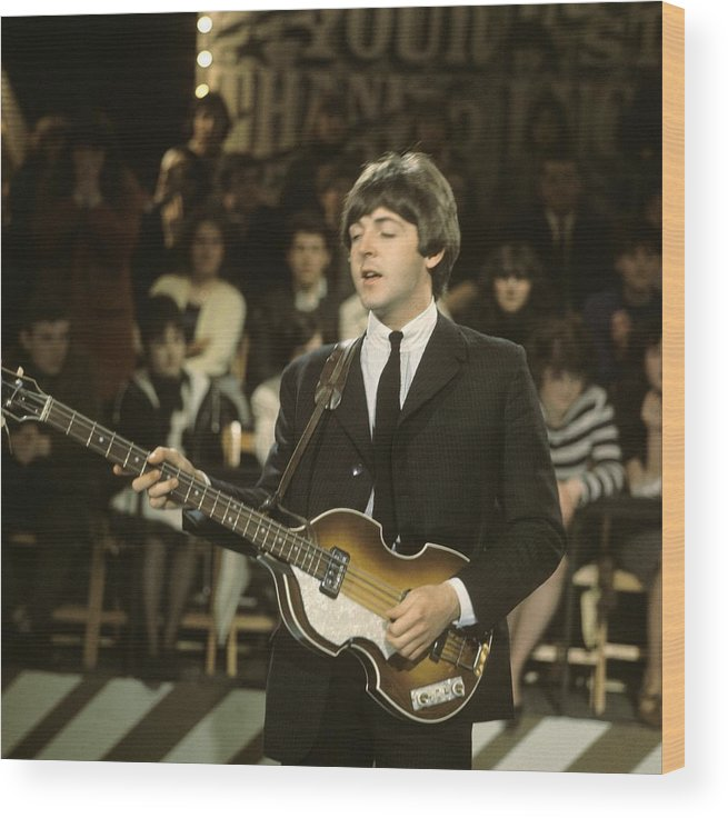 Thank You Wood Print featuring the photograph Photo Of Beatles And Paul Mccartney by David Redfern