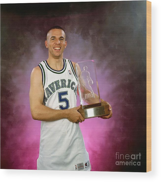 Nba Pro Basketball Wood Print featuring the photograph 1995 Nba Rookie Of The Year - Jason Kidd by Lou Capozzola